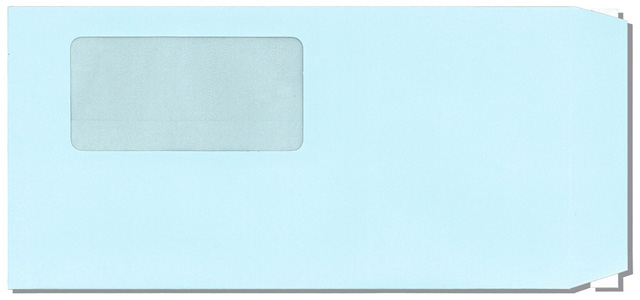 長6窓付封筒ブルー(長6PW)